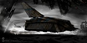 Freight Landing by prolificlifeforms