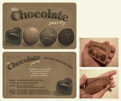 Chocolate Party Invitation by kayne