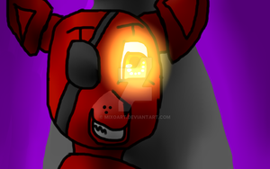 Foxy in Stage by MixoArt