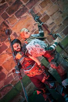 Dragon Age 2 - Hawke and Anders Cosplay by zahnpasta