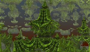 Emerald Towers by CriogenReptyle