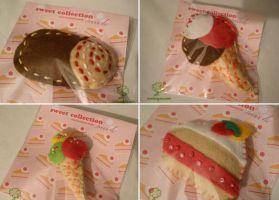 Brooches - Sweets of felt by Nuri7