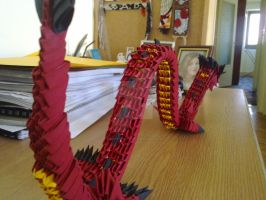 Origami Dragon 3 by KibaPandaRo