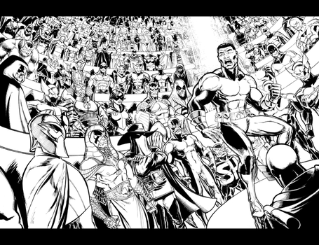 Shadowhawk Resurrection #5 Page 2-3 Spread by ToneRodriguez