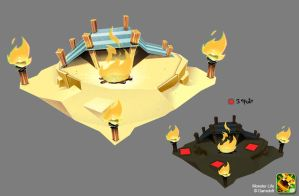 Monster Life - Egypt - Fire Camp by joslin