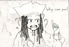 Whys Rum Gone? :Drawing: by MegadethPhill