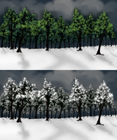 Deciduous Forest v1 and v2 for ToD by kristhasirah