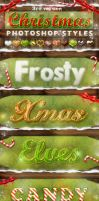 Christmas Photoshop Styles V3 by KoolGfx