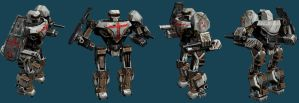 MekTek Black Knight Crusader by monkeyrum
