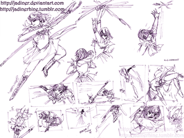 Saturn: Movement practice sketches by JadineR