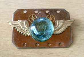 Steampunk Militia Badge by randomcharlie