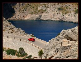 Red Car - Mallorca by skarzynscy