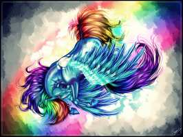 Rainbow DASH DASH DASH [Speed Painting] by Valuiss