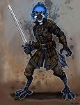 Commission - Blue Jay Fighter by TheLivingShadow
