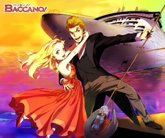 Baccano-Issac and Miria by hsjenny77