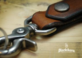Key Fob Detail by Blackthornleather