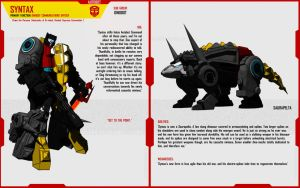 DINOBOT SYNTAX by F-for-feasant-design