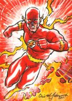 Flash Sketch Card Commission by ChrisMcJunkin