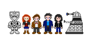 Doctor Who Sprite Sheet by Silverhammer37