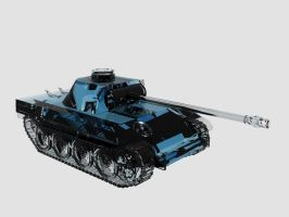 Panther Tank 3D Glass Render by Thundermane