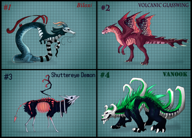 Rare Creature adopts! (FREE RAFFLE) -Closed- by Taluns