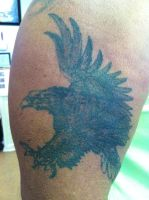 Bald Eagle Tattoo Before Pic by NarcissusTattoos