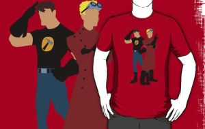 Dr Horrible Red Coat T-Shirt by drg