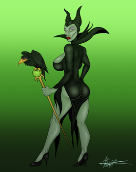 Maleficent - Evil Curves by SquatchArt