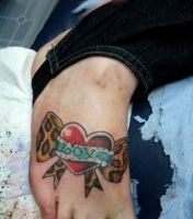 foot tattoo close up by spekey