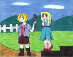 Ed and Winry, childhood love by Acilegna27