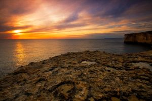 cliff top sunset by mgm-photo