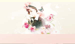 [Wallpaper]Sehun over flowers by Ashleylovesel