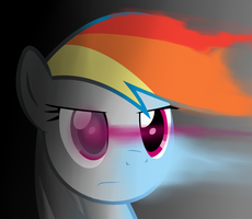 Rainbow Dash Getting Uncolored by Gray-Feathers