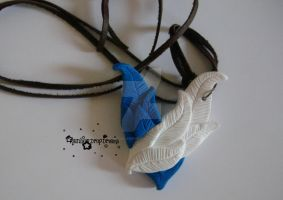 Wings of Freedom Necklace by RainbowDropDreams