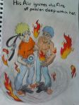 Naruto and Taranee commission, by Dragonrider626 by TheRealKyuubi16