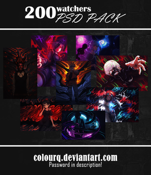 200 watchers PSD PACK by ColourQ