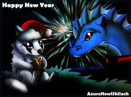 Happy New year to all of you !!!! by AzureHowlShilach