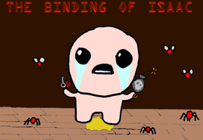 Binding Of Isaac Title Card by ergman