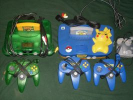 Nintendo 64s by AJD-262