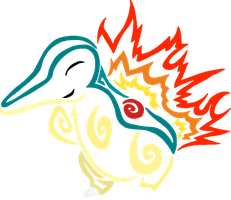 Tribalish Cyndaquil by vaguelygenius