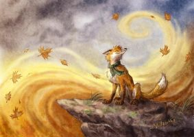 Autumn wind by villasukka
