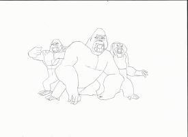 The Apes by FariOwl