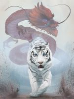 The Tiger and the Dragon by stevegoad