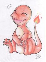 004: Charmander by Natizilda