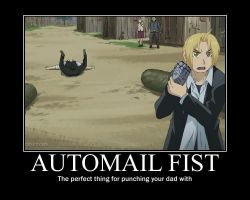 FMA Demotivational: Automail Fist by Angel-of-Alchemy-42