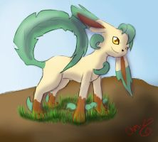 Leafeon by ThatScaryThing