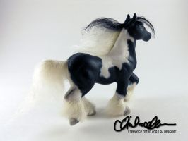 Gypsy Vanner sculpture by thatg33kgirl