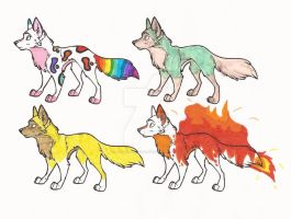 Draw to Adopt wolves by L-A-B-R-A-D-O-R