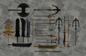 'Sengoku Basara 3' Weapons Pack XPS ONLY!!! by lezisell