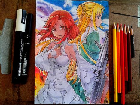 Izetta and Fine from Izetta: The Last Witch by JulisNyane